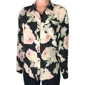 Madewell | Broadway&Broome sheer floral top size M